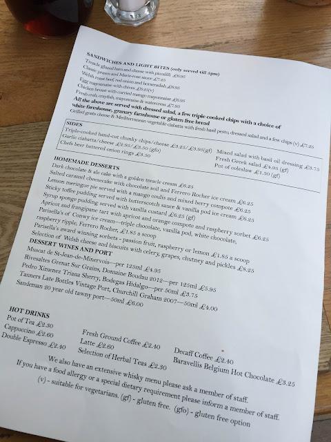 the cottage loaf llandudno menu