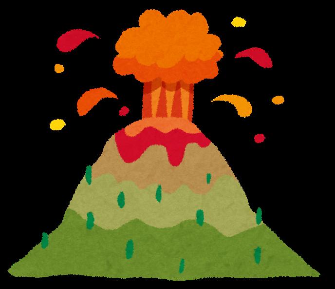 火山噴火のイラスト自然災害 かわいいフリー素材集 いらすとや
