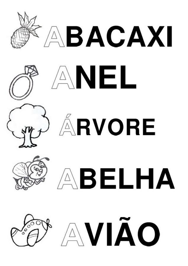 Silabario Alfabeto Ilustrado A A Z Atividades Letras Animais E