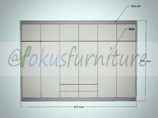 Gambar desain lemari minimalis