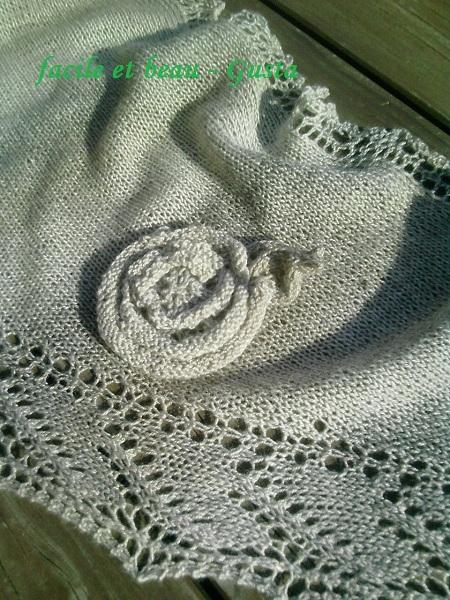 Lace Stricktuch Details