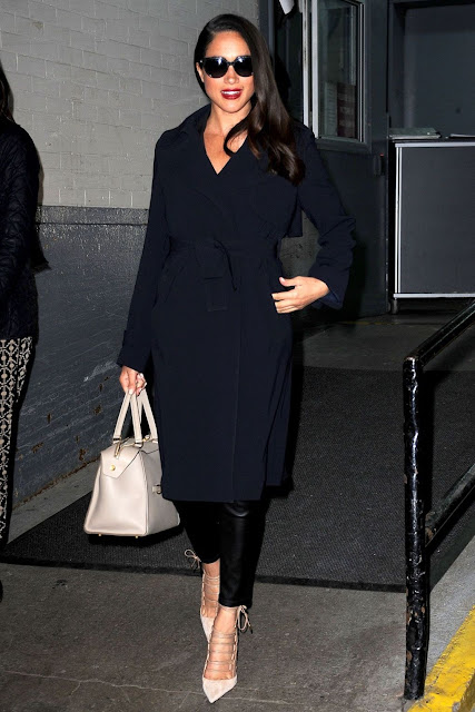 Navy Coat Rachel Meghan Markle