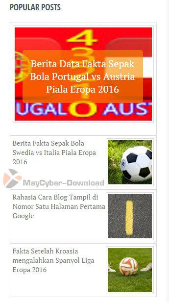 Cara Membuat Popular Post Default Blogger Only Thumbnail