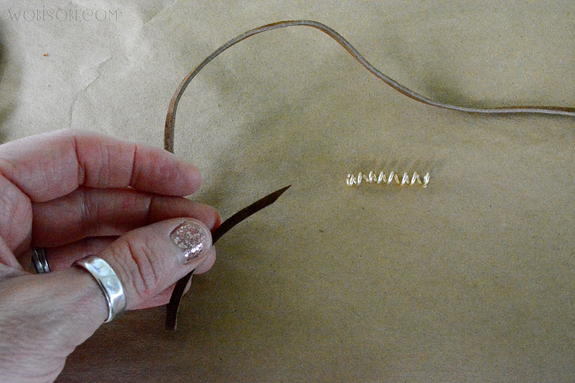 how to make a leather bracelet with slip knot
