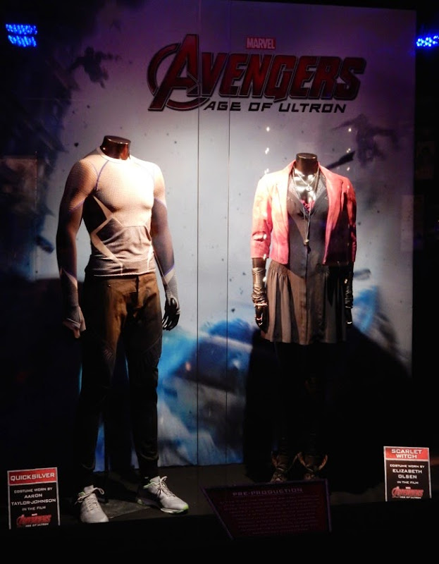 Avengers Age of Ultron Quicksilver Scarlet Witch film costumes