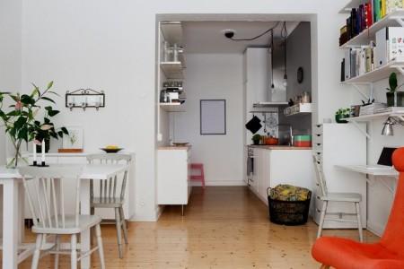 Hogares frescos apartamento de 42 metros cuadrados con for Decoracion apartamento pequeno estilo minimalista