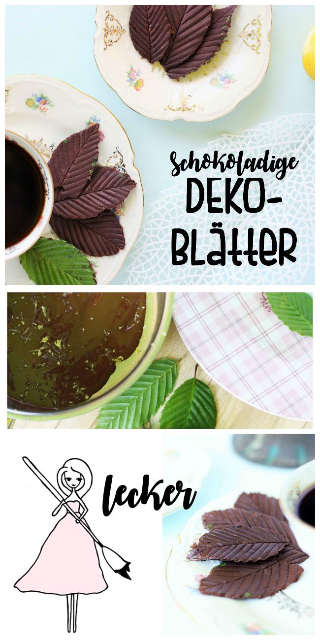 DIY Schoko Deko: Blätter selber machen Some Joys