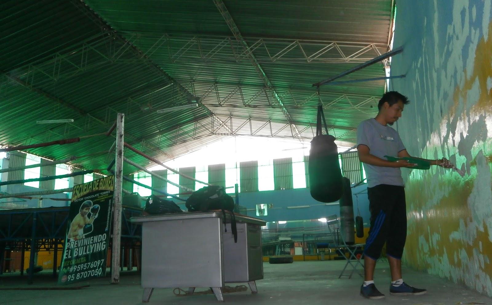 Deportes de arequipa refaccionaron el techo del gimnasio for Gimnasio de boxeo
