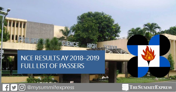 FULL RESULTS: 2017 PSHS NCE for AY 2018-2019 passers list