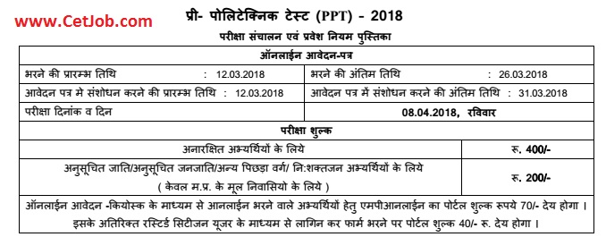 mp ppt mp pre polytechnic test form syllabus download mp ppt application form 2018 fill mpppt application form online yelopaper Image collections