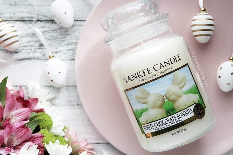 króliczki z białej czekolady yankee candle
