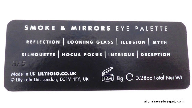 smoke mirrors eye palette lily lolo