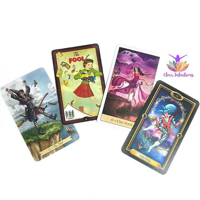 The Fool Tarot Cards from Various Decks