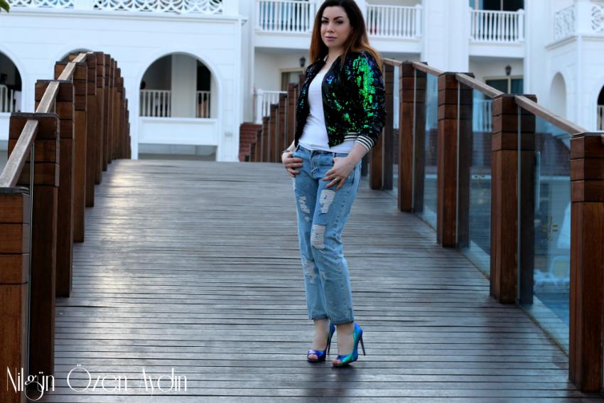 Payetli ceket-payetli kıyafetler-moda-hologramlı ayakkabı-moda blogu-fashion blog