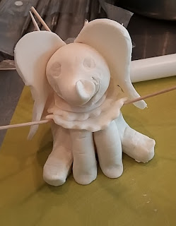 Dumbo style topper for  Baby Shower Cake