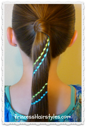 Carousel braid (waterfall ribbon twist)