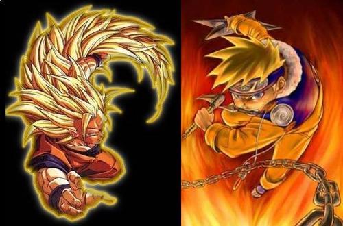 Dragon Ball Z VS Naruto (The All Time Rivalry)   Anime Jokes Collection