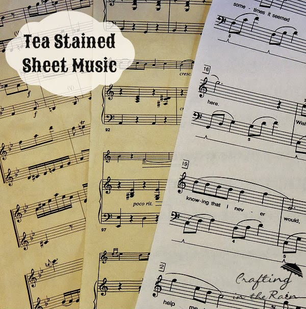 Sheet Music Flowers - Crafting in the Rain