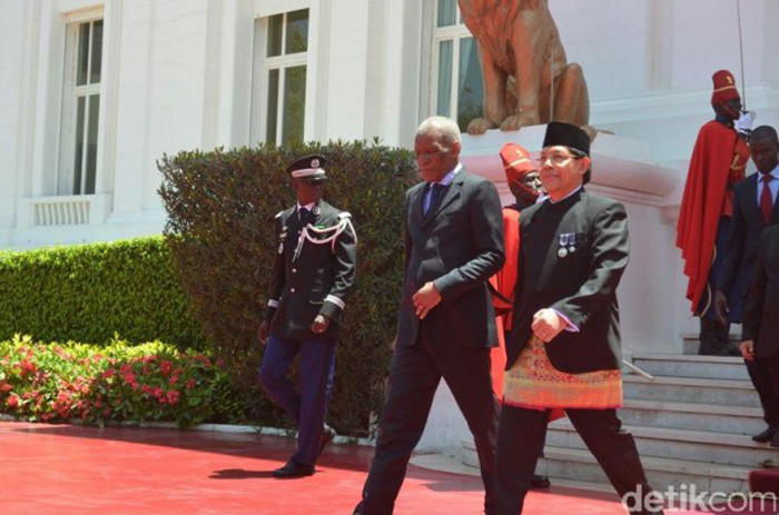 Mansyur Pangeran Dubes RI bertemu dengan Presiden Senegal Macky Sall