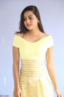 Shipra gaur in V Neck short Yellow Dress ~  076.JPG