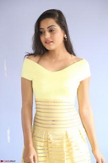 Shipra gaur in V Neck short Yellow Dress ~  076.JPG