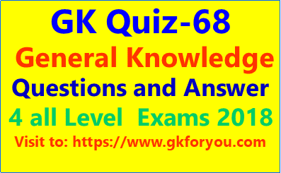 GK Quiz-68 I GK Questions for Railway