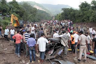 glissement de terrain en Inde