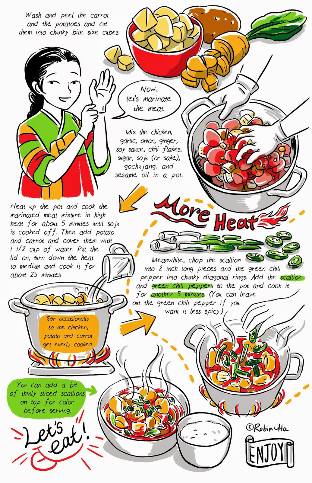 Juice New Recipe On Banchan In 2 Pages Chili Chicken Stew