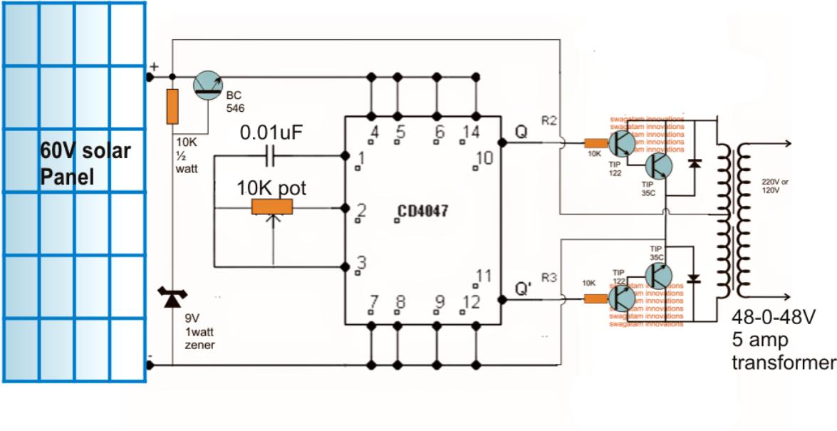 Designing a Solar Inverter Circuit  Tutorial