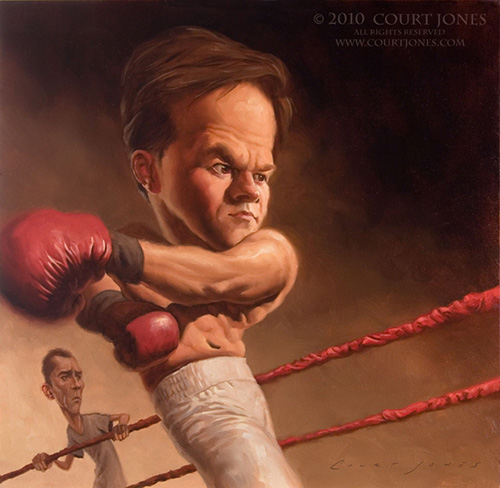 "Caricatura de ""Mark Wahlberg"" por Court Jones"