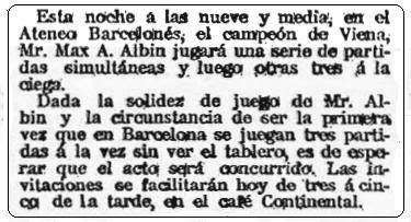 Recorte de La Publicidad, 29 de agosto de 1910