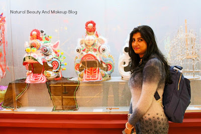 With Chinese exhibits at the museum inside Lou Lim Ieoc Garden of Macao, featuring blogger Anamika Chattopadhyaya