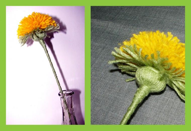 Como hacer una Flor con Lana