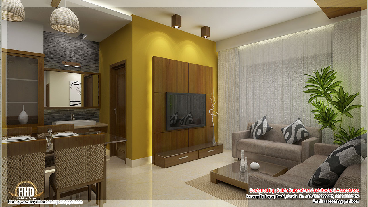 Living Room Ideas Kerala Homes Oak Effect Furniture Sets Beautiful Interior Design Home Sweet And Dining Tv Kitchen