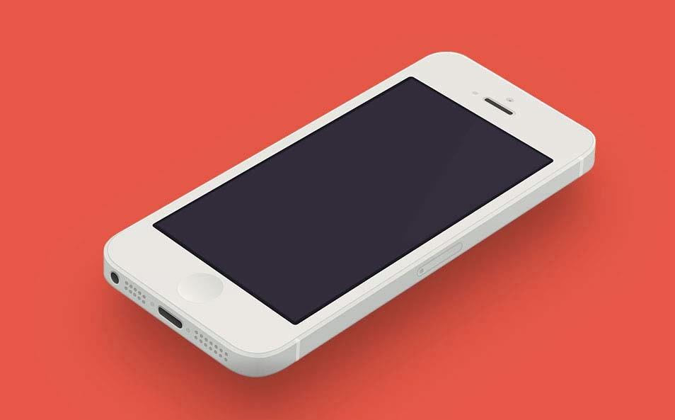 Minimal iPhone Template PSD