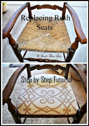 Replacing Rush Seats - Upholstery Tutorial - Step by Step