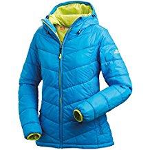 Nordcap Damen Jacke in Daunenoptik, warme Steppjacke in Blau, tolle Übergangs- & Winterjacke, 100% Wattierung (Gr: 36 - 50)