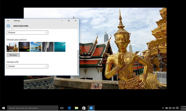 langkah terahkir mengganti background Windows 10