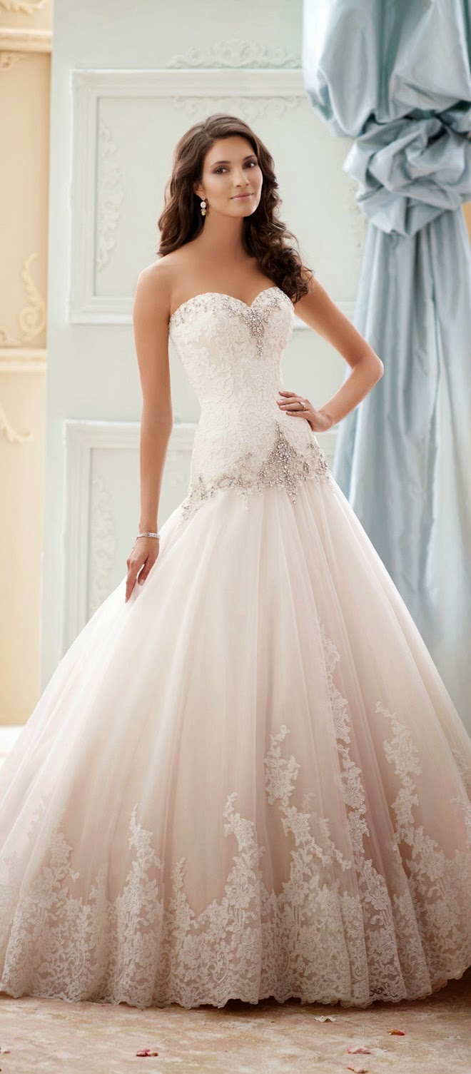 Our feature of David Tutera for Mon Cheri Spring 2015 is ...