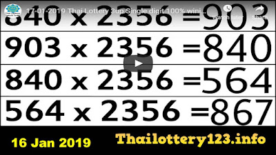Thai lotto and lottery 3up pairs htf total tips paper 16 January 2019