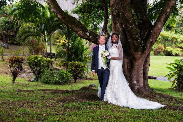 guadeloupe, mariés au domaine de séverin