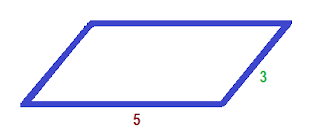 perímetro do paralelogramo