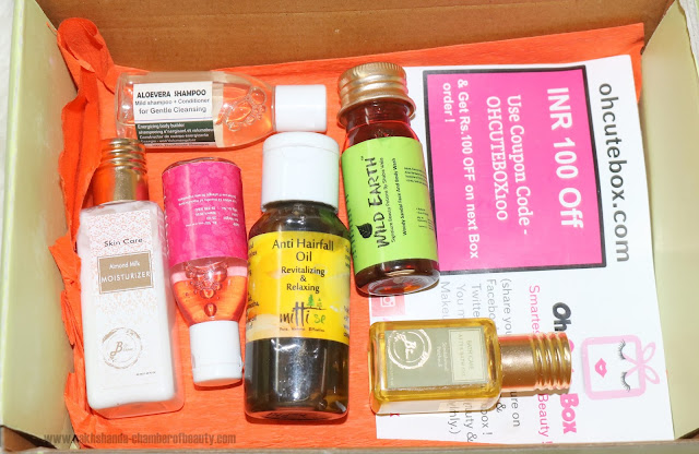 Oh Cute Box, Unboxing May 2016 Oh Cute box, monthly subscription, Unboxing my Oh Cute Box, skincare, organic products, Indian natural beauty brands, Bio Bloom,