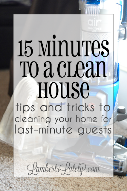 how to clean a living room in 15 minutes