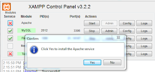 cara mengatasi xampp error service cannot be installed dengan mudah