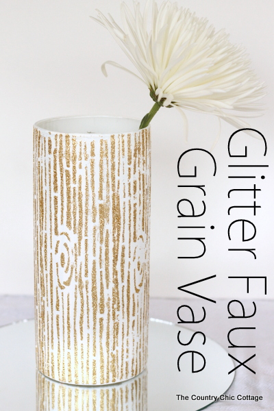 Glitter Faux Grain Vase -- make this for your home or DIY wedding.  A quick and easy project with big impact.