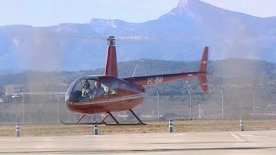 Första officiella flygningen på Castellóns flygplats.