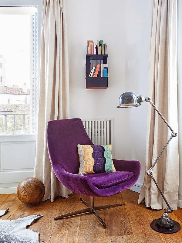 Apartamento decorado com clima retrô para vc copiar. Blog Achados de Decoração
