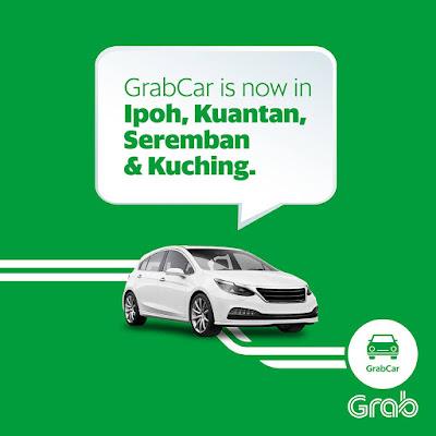Grab Promo Code GrabCar Rides Discount Ipoh Kuantan Seremban Kuching