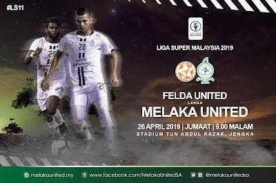 Live Streaming Felda United vs Melaka United Liga Super 26.4.2018